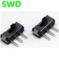 10pcs on-off switch mini On / Off / On 2P2T DPDT 3 pino DIP horizontal interruptor micro slide switch #DSC0011