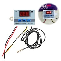 220V 12V 24V Digital LED Temperature Controller Thermostat Switch Probe Sens
