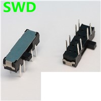 10pcs on-off switch mini On / Off / On 2P3T DPDT 8 pino DIP horizontal  interruptor micro slide switch #DSC0011