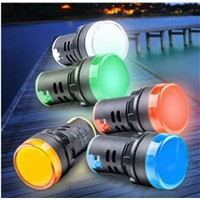22mm Red/Yellow/Blue/Green/White AD16-22DS LED Indicator Lights Signal Pilot Lamp 6.3/12/24/36/48/110/220/380V
