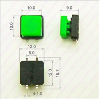 10PCS 12X12mm H=9MM With Square Cap Momentary Tactile 4PIN SMT/DIP Tact Switch Push Button Switch Micro Key Button