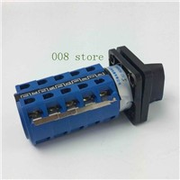 YMW26-25/5 Panel Mount 25A 5 poles 3 position control motor circuit Universal changeover rotary cam switch