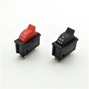 5 Pcs AC 250V 10A SPDT 1NO 1NC 3 Pin Black Red Hot Wind Control Button Rocker Switch for Hair Dryer