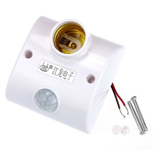 High Quality  E27 Infrared Motion PIR Sensor Automatic LED Light Lamp Holder Switch