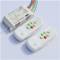 YTE 4 Ways Intelligent Dual Remote Single Way Port ON/OFF Digital Wireless Remote Control Switch 220V Controller for Light Lamp