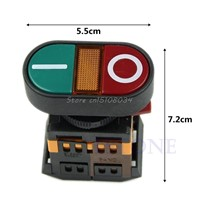 Light Indicator Momentary Switch Red Green Power ON OFF Start Stop Push Button #S018Y# High Quality