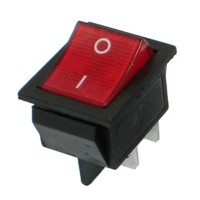 DHDL-16A/250V 20A/125V AC Red Neon Light ON/OFF DPST Boat Rocker Switch 5 Pcs