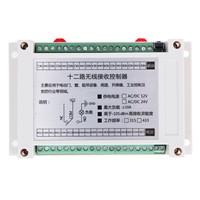 Adjustable 315/433MHz Industrial Control Shell Learning 12 Volt 12 Remote Control Switch Transmitter + Receiver NG4S