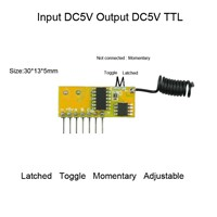 DC 5V 4CH Decoding Receiver Module High Level TTL RF Radio RX Mini Size Super heterodyne Learning Code Jog Self-Lock Inter-Lock