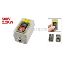 BS216B On/Off Self Locking Power Push Button Switch 3 Phase 500V 2.2KW