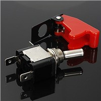 12V 20A Inverter Rocker Switch Lever On / Off LED ON-OFF SPST + COVER Auto Car-Dark red