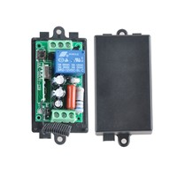 AC 220V 10A 1 Channel Wireless Relay Remote Control Switch RF Receiver Transmitter 315/433 LED Light Lamp Remote ON OFF Push