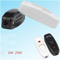 Bedside Lamp With Light Switch,On-line Boat-shaped Button Control Mid-bedside Lamp Wire Switch 10A