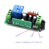NEW AC110V 220V 1CH 10A Remote Control Light Switch Relay Output Radio Receiver Module + Case