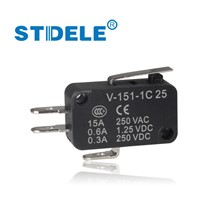 5PCS Microswitch STDELE  V-15.V-151.V-152.V-153.V-154.V-155.V-156.-1C 25 Travel switch limit switch silver contact