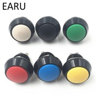 1pc 12mm Black Stainless Steel Colorful Momentary Horn Door Bell Power Push Button Siwtch Screw Feet Car Auto Engine Start PC