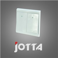 white Wall Switch Panel Light Switch 2 Gang 2 Way Push Button 16A,110~250V, 220V