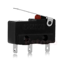 C18 New Hot 2pcs C+NO+NC Micro Limit Sensor Switch Roller Arm Lever Subminiature 3A 250V AC