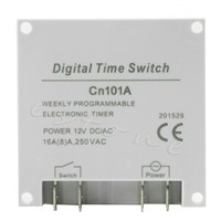 AC 12V 16A LCD Display Digital Power Programmable Timer Time Relay Switch  -Y122