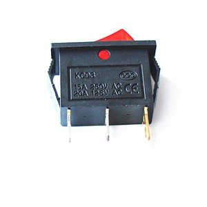Joying Liang KCD3 800-2200W Cooker Electric Frying Pans Rocker Switch with Red Light 3 Feet ON/ OFF Small Switches 5pcs/lot