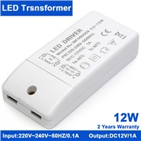 KINDOMLED 10pcs 12W 12V DC 1A LED Driver Power Supply transformer 220V  adaptor transformer switch for 5050 3528 LED Strip Light