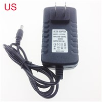 AC 100-240V US EU UK Plug For DC 12V 2A 24W Power Supply Adapter Charger For LED Strips CCTV Security Camera 2016 New Universal