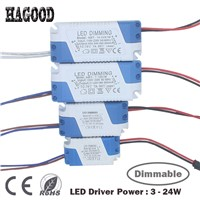 3-24W Dimmable Safe Plastic Shell LED Driver AC90-265V Light Transformer DC9-85V Current 300mA Power Supply Adapter for Led Lamp