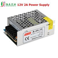 12V 2A LED Power Supply AC 220V to 12V Low Voltage Transformer 24W LED Driver For LED Strip Indoor Home Decoration