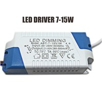 50pcs/lot LED Driver 7-24W Transformer Power Supply Input Voltage AC85-265V Output Voltage LED Dimming LED Panel Driver