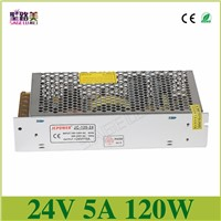 Universal Regulated Switching Power Supply electronic transformer,output DC24V 5A 120w,input 110v-220v Driver,CCTV PSU LED strip