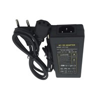 1pcs AC DC 12V 5A Power Adapter Supply 60W Switch For 5050 3528 5730 7020 8520  LED Light LCD Monitor CCTV With Cord and IC Chip