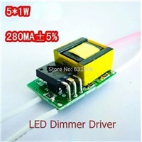 5*1W ,LED Dimmer Driver For LED Lamp Light Constant Current Driver Power Supply