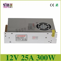 AC to DC Universal Regulated Switch Power Supply Transformer For LED Strip Light Module Lamp 110/240V,output DC 12V 25A 300W