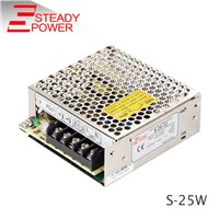 CE Approved AC to DC 5v 5a / 12v 2a / 24v 1a 25W led Switching mode Power Supply 12 Volt 2 Amp led driver