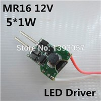 10pcs AC/DC 12V 5W MR16 LED driver for 5W LED lamp, 5x1W LED transformer