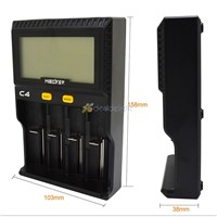 C4 Miboxer Battery Charger Smart 4 LCD Slots for 10340 10440 AA AAA 14500 18650 26650 Battery Charger Universal Charger