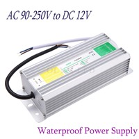 Metal Case Waterproof IP67 Transformer Switch Power Supply 60W 80W AC 220V 110V to DC 12V Adapter Driver for Strip Garden Lamp