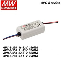 Mean Well APC-8-250/350/500/700mA 8W  LED Waterproof Driver, Single Output Switching Power Supply