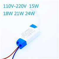 300mA Dimmable Led Driver 15W 18W 21W 24W Power Supply AC 110V -240V for LED Ceiling lights/panel light DC Plug
