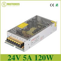 High quality 24V 5A DC Universal Regulated Switching Power Supply use for led lamp led strip