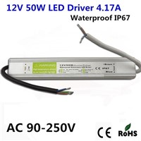DC12V 50W Electronic LED Driver IP67 Waterproof Outdoor Lighting Equipment Dedicated Power Supply Transformers