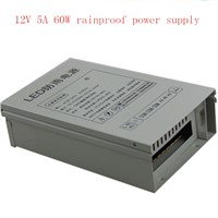 wholesale Best price DC 12V 5A 60W RainProof Regulated Switching Power Supply outdoor power CCTV PSU