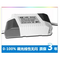 10pcs Dimmable LED driver SCR dimmer power supply 6-18*1W high-power isolated constant current source for E27 bulb