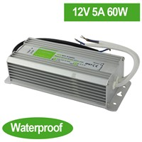 Waterproof 12V 5A 60W LED Power Supply Driver Transformer dual putout for LED Strip LED module