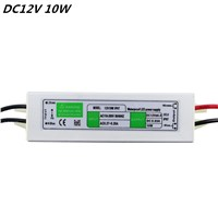 Superior Quality DC12V 10W IP67Waterproof LED Driver Power Supply Aluminum Alloy Transformer AC110-260 to 12 Volt DC Output hot