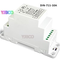Good price  DC5V-24V CV 0-10V to PWM Dimmer Driver DIN-711-10A (DIN rail/Screw dual-use) input 10AX1CH 50W/120W/240W output