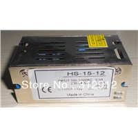 12V/15W switch mode power supply,size:84*58*38mm