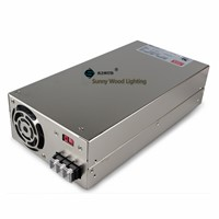 100-240Vac to 5VDC ,500W ,5V 100A  UL Listed   power supply ,LED screen ,monitor high power fact driver ,SE-600-5