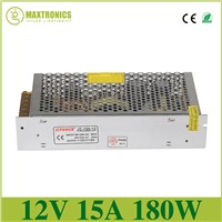 12V 15A led Regulated Switching Power Supply For LED Light Strip AC 110-240V Input to DC 12V