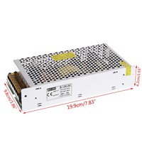 AC 100-260V To DC 24V 5A 120W Switch Power Supply Driver Adapter LED Strip Light